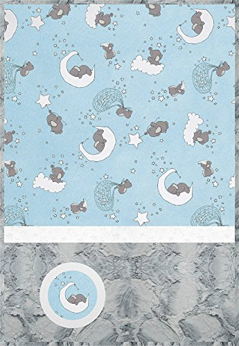 Minky Lullaby Lucky Star Blue Cuddle Kit Quilt