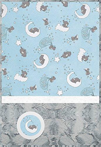 Minky Lullaby Lucky Star Blue Cuddle Kit Quilt Kit Shannon Fabrics