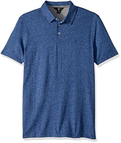 Volcom Men's Wowzer Polo Shirt, Blue Drift, XXL (Ski Drift)