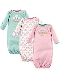 Luvable Friends Baby-Girls 3 Pack Cotton Gown Nightgown