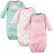 Luvable Friends Baby 3 Pack Cotton Gown, Sparkling New, 0-6 Months