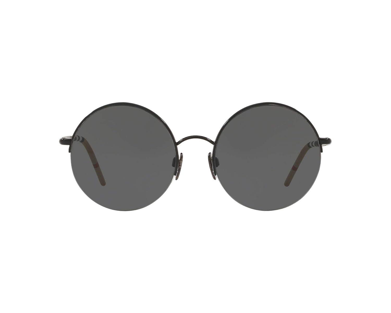 0e01358344 Burberry BE3101 100187 Black BE3101 Round Sunglasses Lens Category 3 Size  54mm  Amazon.co.uk  Clothing