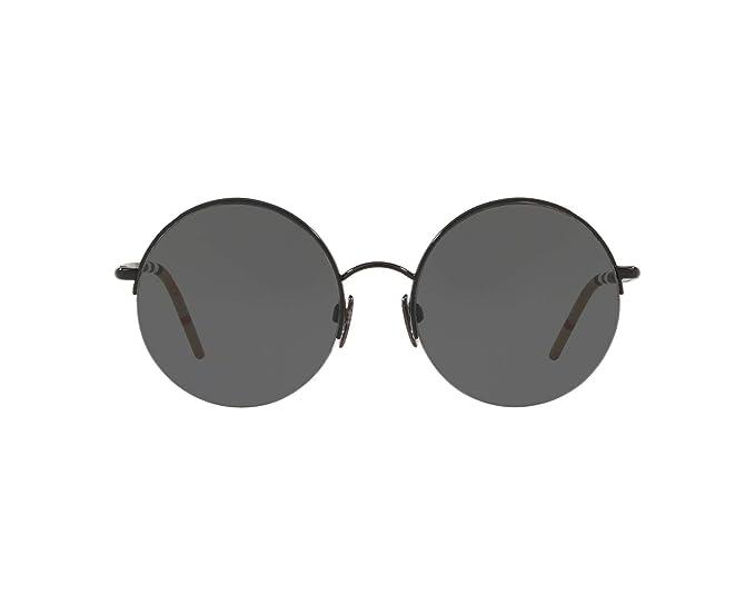 0aee049b3de Burberry BE3101 100187 Black BE3101 Round Sunglasses Lens Category 3 Size  54mm  Amazon.co.uk  Clothing