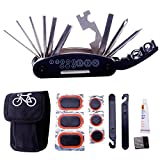 DAWAY Bike Repair Tool Kits - 16 in 1 Multifunction Bicycle Mechanic Fix Tools Set Bag with Tire...