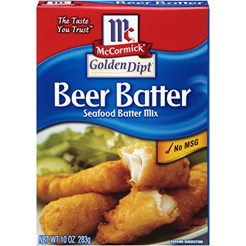 McCormick Golden Dipt Beer Batter Seafood Batter Mix, 10 oz (Pack of 8)