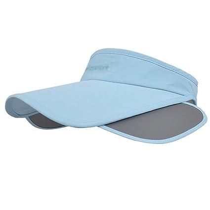 Amazon.com  ZHANWEI Sun Hats beach hats Tennis cap UPF 50+ summer Female  Nylon Anti-UV Sun protection Empty top adjustable 5 colors 57cm (Color    Light ... b8c7bd7d17c