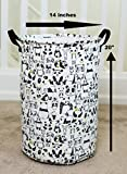 Laundry Hamper Basket for Kids with Panda Prints for Boy or Girl's Room and Baby Nursery