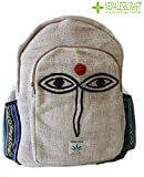 All Natural Handmade Large Multi Pocket Hemp Backpack ( THC FREE) with Laptop Sleeve - Fashion Cute Travel School College Shoulder Bag / Bookbags / Daypack