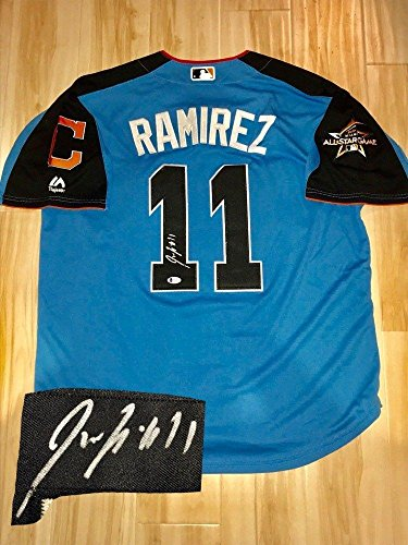 - Jose Ramirez Autographed Jersey - 2017 All Star BAS Beckett Cert - Beckett Authentication - Autographed MLB Jerseys