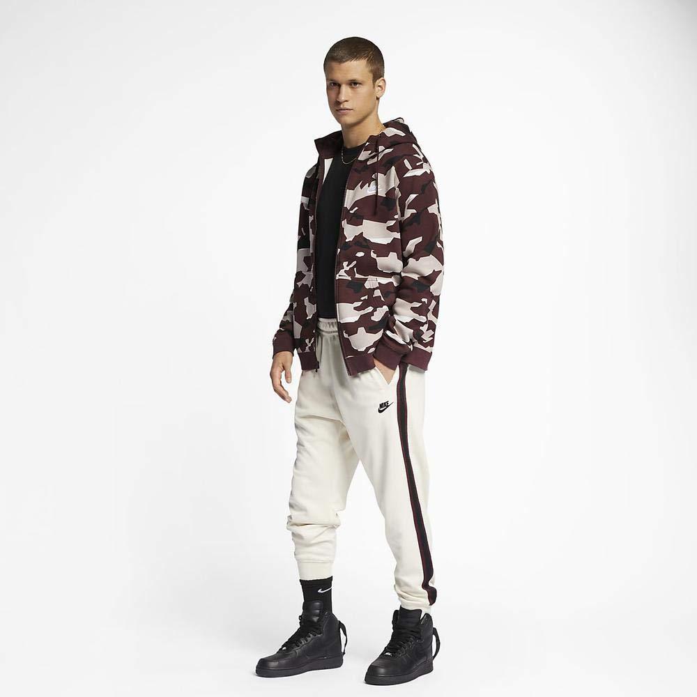 Nike Sportswear Mens Joggers Light Cream//Night Maroon//White AR2255-272