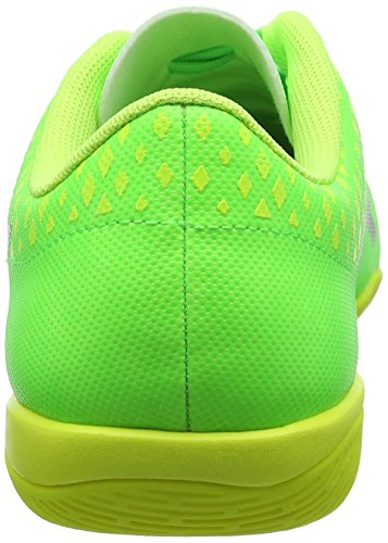 Puma Evopower Vigor 4 IT, Chaussures de Football Homme, Vert (Green Gecko Black-Safety Yellow 01), 47 EU