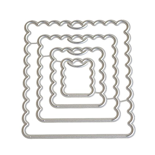 POQOQ Cutting Dies Scrapbooking Paper Card Metal Die Cut Stencils #0202O, Accessories for Big Shot and Other Cutter Machine(I) -
