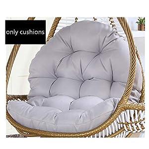 SXFYHXY Œufs Suspendus Coussins de Chaise Swing pour Jardin intérieur et extérieur Patio Confortable Relaxant (sans Berceau) (86X120CM, B) 5