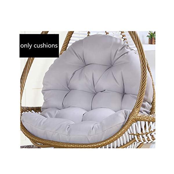 SXFYHXY Œufs Suspendus Coussins de Chaise Swing pour Jardin intérieur et extérieur Patio Confortable Relaxant (sans Berceau) (86X120CM, B) 1