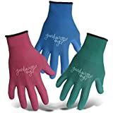 BOSS 8414S Blue & Fuchsia Sm 12ea Green Ladies Guardian Angel Nylon Knit Glove, White