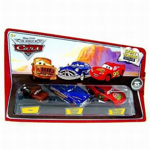 Disney / Pixar CARS Movie 1:55 Die Cast Story Tellers Collection 3-Pack Fred, Fabulous Hudson Hornet and Smell Swell Lightning McQueen