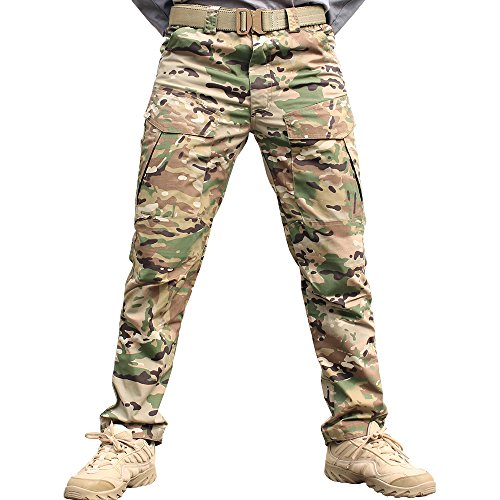Paintball Professional Pants (IDOGEAR M2 Tactical Pants Airsoft Camouflage Army Men SWAT Combat Military Multicam Pants Hunting Paintball Camo Trouser (S, Multicam))