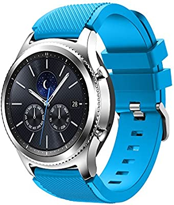 Tabcover® Gear S3 Frontier Classic Smart Watch Correa, 22mm Soft Silicone Sports Replacement Strap for Samsung Gear S3 Frontier Classic/Galaxy Watch ...