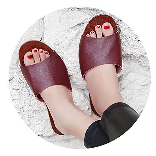 vin femme pour Chaussons rouge TELLW 8FqT0