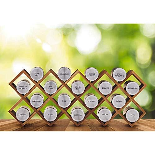 (Kamenstein 18-Jar Criss Cross Organic Spice)