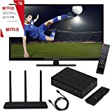 """Proscan PLDED3273A 32"""" 720p 60Hz LED HDTV Cut the Cord Package With Terk Trinity Amplified HD Antenna, Terk Digital Tuner Box With DVR Capability, 6 foot HDMI Cable and 3 Months Of Free Netflix"""