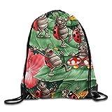 Cricket Insect Symphony Art Unisex Drawstring Backpack