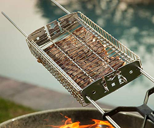Stainless Steel Grill Basket. Cooks Any Food! by Kanka