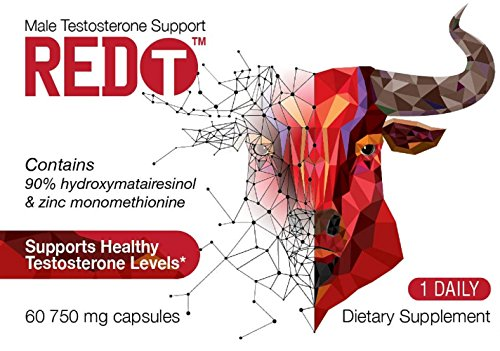#1 DOCTOR RECOMMENDED RED T MALE TESTOSTERONE BOOSTER SUPPORT SUPPLEMENT Fast Acting Booster ONE DAILY Testosterone Support Made With Clinically Studied Ingredients.