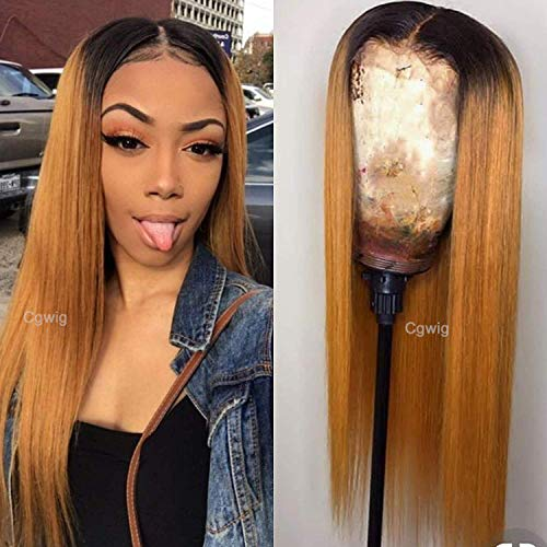 Ombre Blonde Straight Synthetic Density