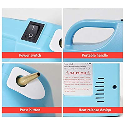 Portable Electric Balloon Inflator Electric Balloon Pump Rechargeable Twisting Modeling Balloon Pump Electric Balloon Pump Air Balloon Blower for Birthday/Party/Decoration (Blue): Health & Personal Care