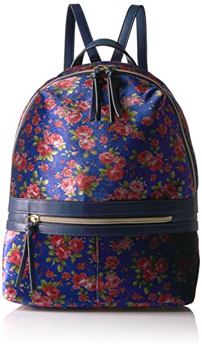 Floral Velvet Jeans (T-Shirt & Jeans Blue Floral Velvet Back Pack, Blu)