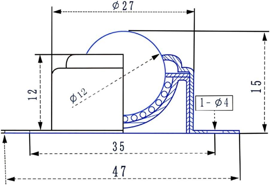 BIlinli Transfert /à Bille roulante de Portant la Roulette Ronde de vis de Boule de Monte de Roulette dUniversa