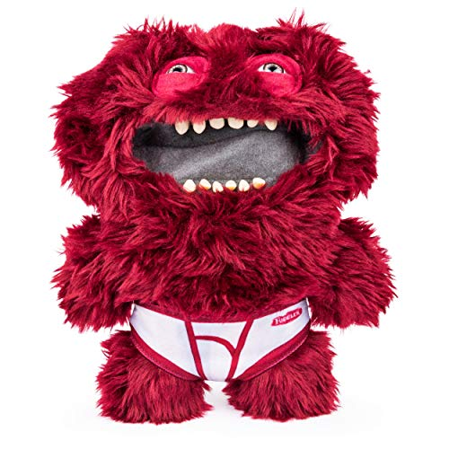 Fugglers, Funny Ugly Monster, 9 Inch Count Underoo McGoo (Maroon) Plush Creature with Teeth, for Ages 4 and Up