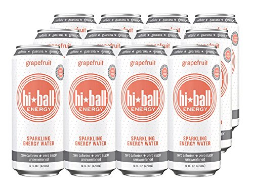 Review Hiball Energy Sparkling Water,