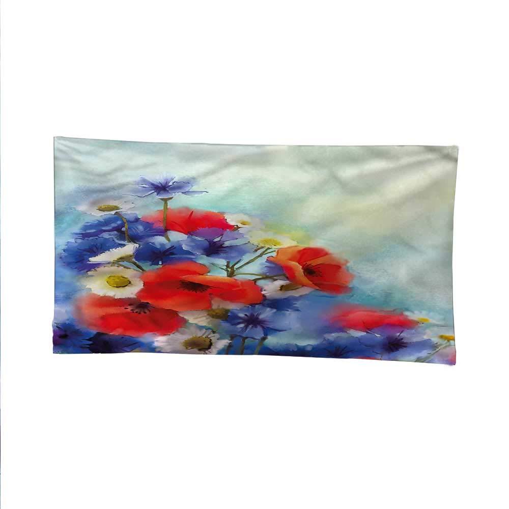 Flowerfunny tapestryquote tapestryPoppy Chamomile Bouquet 84W x 54L Inch