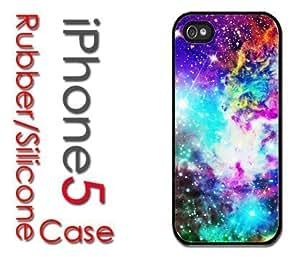 iPhone 5C (New Color Model) Rubber Silicone Case - Galaxy Nebula Colorful Fox Galaxy Stars