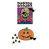 Just4fun Two (2) Fun HALLOWEEN PARTY GAMES - Pin the Nose on the PUMPKIN & Eyeball on the ZOMBIE - Classroom ACTIVITIES Scouts