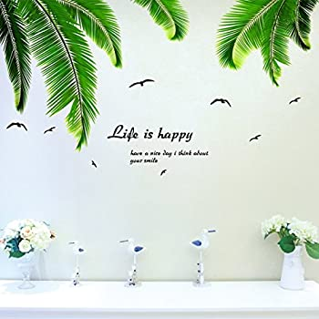 Wonderful Iwallsticker Palm Tree Wall Decals Wall Stickers For Kids Room Bedroom  Living Room Home Decor