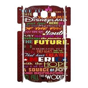 Clzpg 3D Custom Samsung Galaxy S3 I9300 Case - Walt Disney Quotes 3D phone case