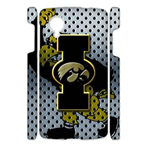 Generic Customize Unique Otterbox--NCAA Iowa Hawkeyes Team Logo Plastic Case Cover for Google Nexus5 (3d)