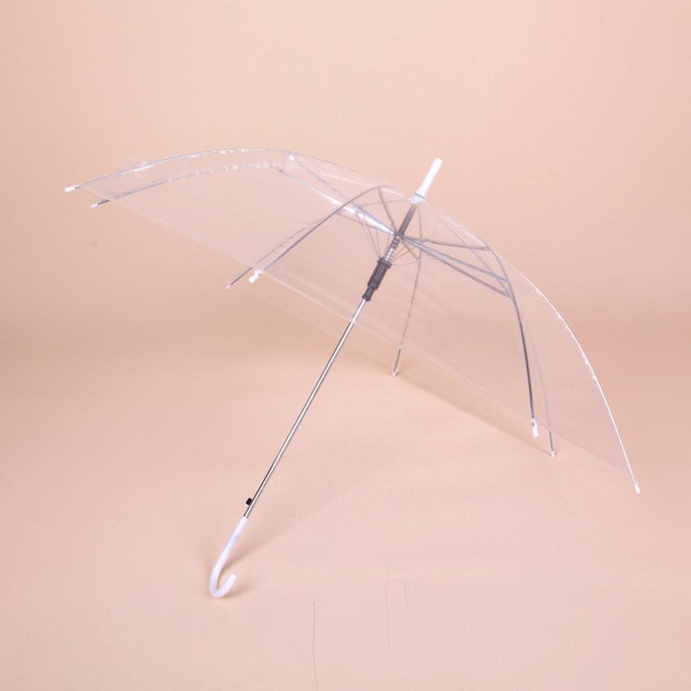 PVC matte plastic Kaxima Transparent umbrella 83x93cm green umbrella curved handle