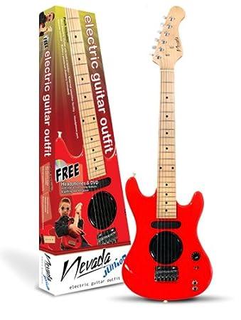 Rojo Nevada Junior Guitarra eléctrica Outfit - Incluye Auriculares y Libre DVD.: Amazon.es: Electrónica