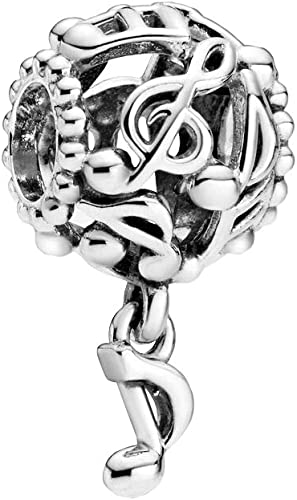 Music notes sterling silver charm