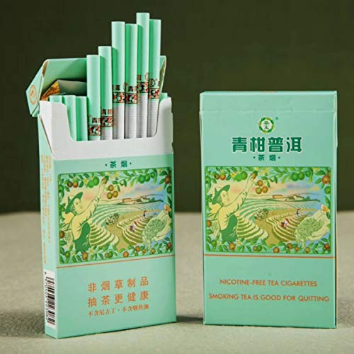 Yunnan Chinese Herbal Tea Cigarettes, Smokeless Fruit Scented Tea Tieguanyin Green Tea Black Tea, Smoke-Free Nicotine…