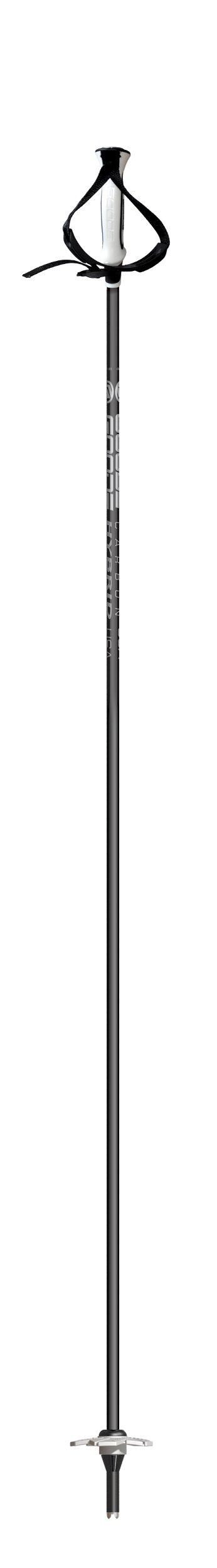 Goode Hybrid Carbon Pole with Patented G-Carbon Fiber, Black/White, 52-Inch/130cm