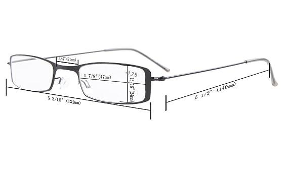 4-Pack in acciaio inox Telaio Half-eye Style Occhiali da lettura Lettori Silver +1.75 1NbTuBld