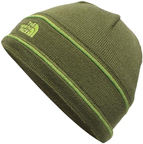 The North Face Kids Unisex TNF¿ Logo Beanie (Big Kids) Terrarium Green/Chive Green (Prior Season) (Tnf Logo Beanie)