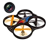 Haktoys HAK907C 17' Diagonal 2.4GHz 4CH RC Quadcopter, 6 Axis Gyroscope, Loop Function, Rechargeable, Ready To Fly, and LED Light (Camera Included)
