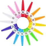 Blulu 16 Pieces Plastic Kazoos 8 Colorful Kazoo