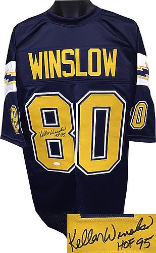 Image Unavailable. Image not available for. Color  Kellen Winslow Signed  Dark Blue TB Custom Stitched Pro Style Football Jersey HOF 95 ... 517bb2c09